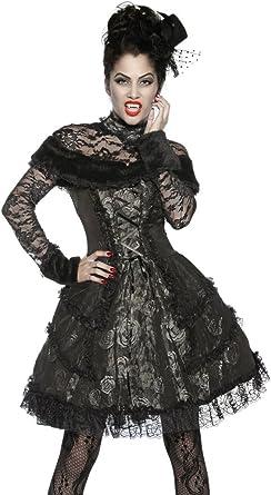 armardi c Extravagante vampiro Disfraz Negro Gris: Amazon.es: Ropa ...