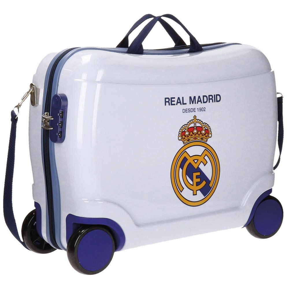 Real Madrid Rm Classic Kindergepäck, 50 cm, 34 liters, Weiß (Blanco)