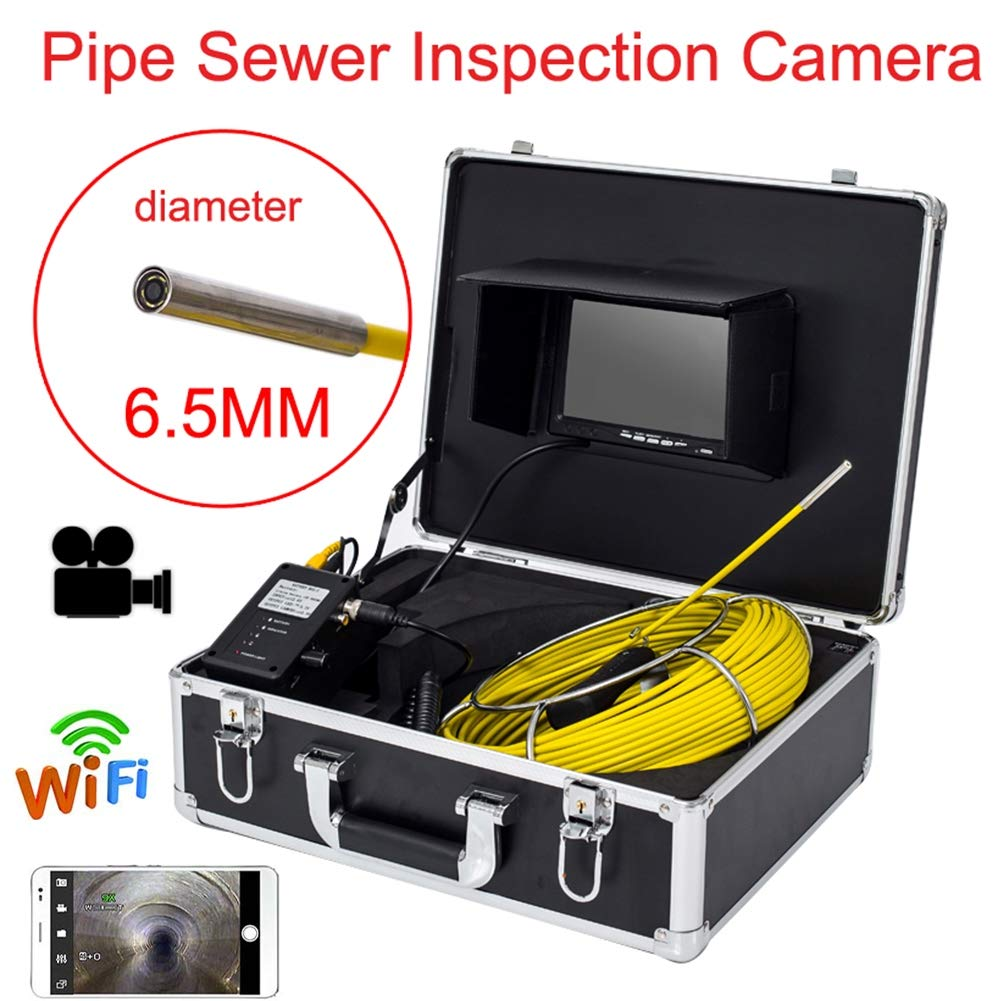 春先取りの 7インチWIFI 6.5 80M 80M 6.5 MM工業用パイプライン下水道検知カメラIP68防水排水検知1000 TVLカメラDVR機能,50M B07Q33W1KN 80M 80M, フジチョウ:f2b1fdc4 --- lightinglogistics.co.za
