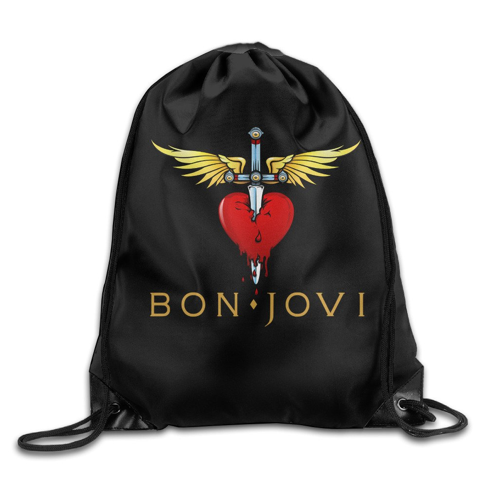 TEEMO Bon Jovi Logo Port Bag Drawstring Backpack