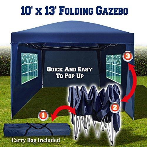 ... BenefitUSA-EZ-POP-UP-10X13-Folding-Gazebo-C&ing- ... & BenefitUSA EZ POP UP 10u0027X13u2032 Folding Gazebo Camping Canopy Wedding ...