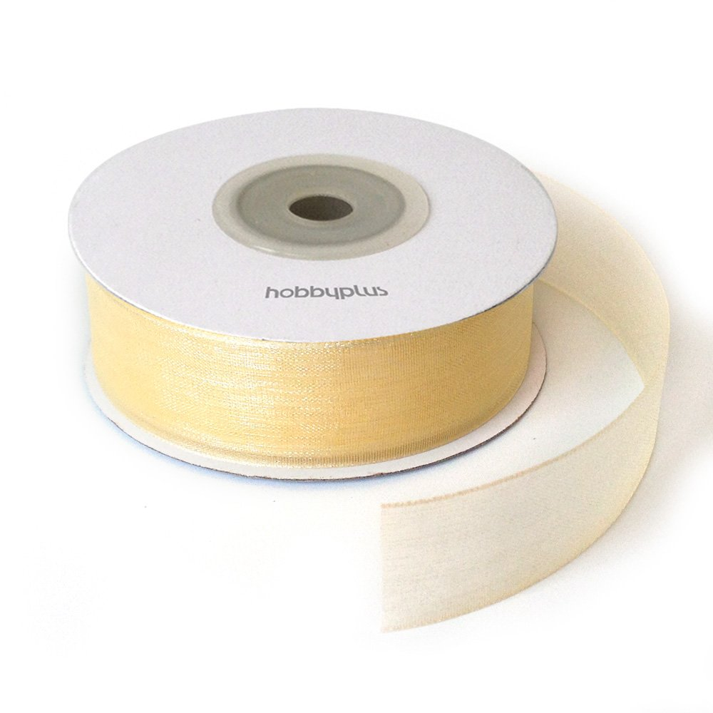 25 yards Full Reel 20mm Organza Ribbon. High quality Roll. Scrapbooking, Gift wrapping, home deco. 22meter (OGZ#029-White)