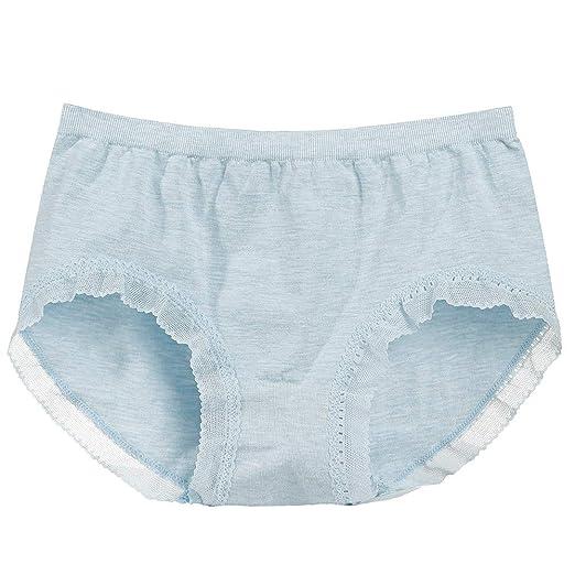 393a47b3586c Convinced Underwear Women,lace Lingerie,Women Underwear Seamless Mid-Rise Briefs  Panties KnickersBlue