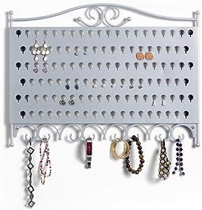 Mango Steam Slim Profile Wall-Mounted Jewelry & Earring Organizer