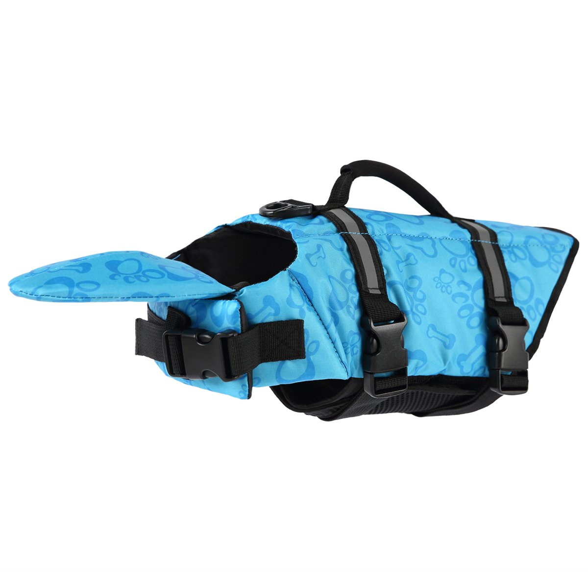 PetCee Dog Life Jacket XL,Dog Life Extra Large Jacket That Well Secure Your Dog's Safety and Quick Release Easy-Fit Adjustable Life Vest for Dogs (Blue, XL)