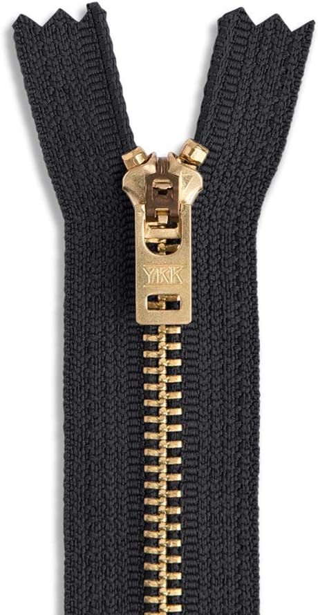 3 inch Brass Metal 3 Assorted Package 26 ZIPPERS YKK JEAN Zippers size 4.5