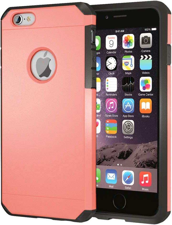 iPhone 6 / 6s Case, ImpactStrong Heavy Duty Dual Layer Protection Cover Heavy Duty Case for iPhone 6 / 6s (Coral)