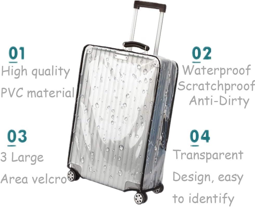 22 14.17-15.75L x 9.45-11.02W x 20.47-22.05H Protectores de fundas para maletas por ZKSport Viajar Protector de equipaje PVC transparente a prueba de polvo a prueba de rasgu/ños 20 a 30 Pulgada