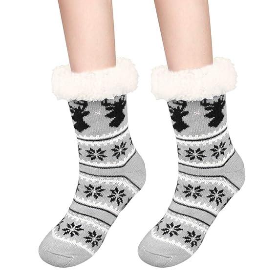 Fixget Zapatillas calcetines, zapatillas mullidas calcetines para ...