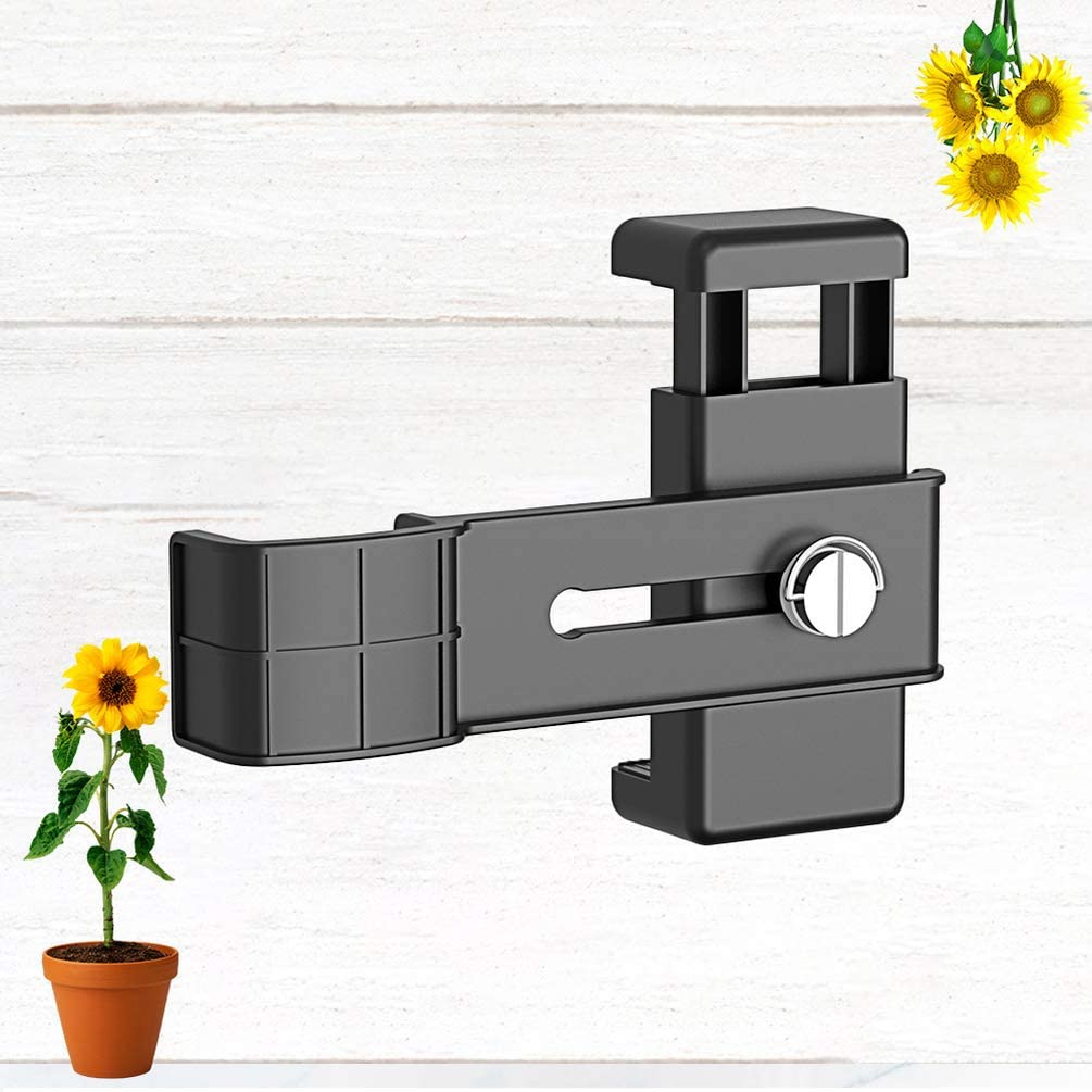 Black BESPORTBLE Camera Bracket Quick Release Plate Universal Camera Tripod Mount Bracket Cellphone Holder Clip for Phone Camera