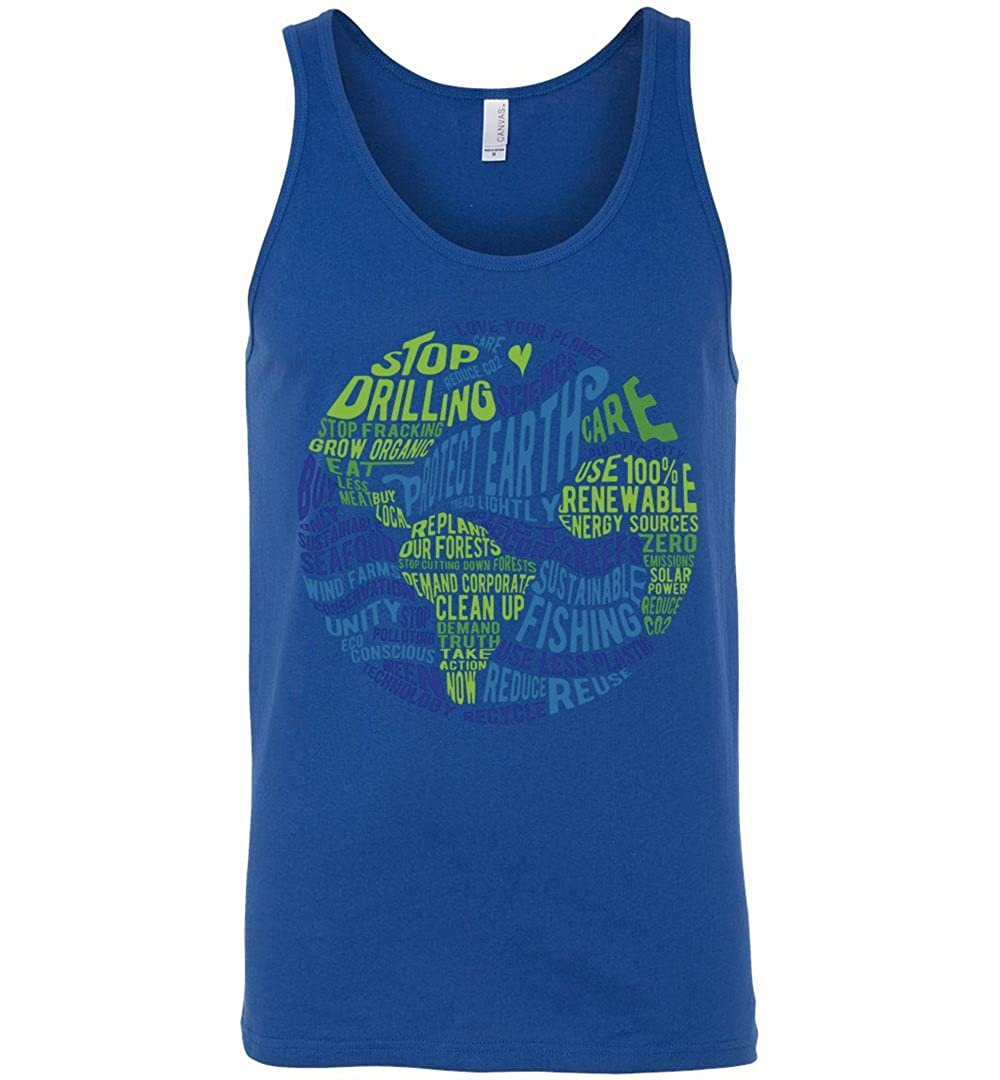 Word Bubble Tank Top Protect Earth