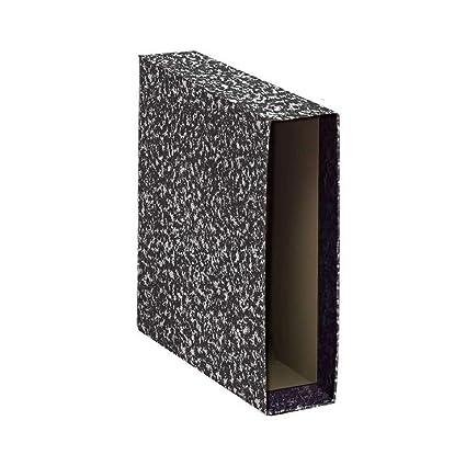 Praxton CDM80AN000 - Caja Archivador A-Z PRAXTON Negro Jaspeado, Folio 75 mm