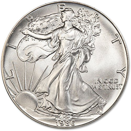 - 1986 American Silver Eagle $1 US Mint Uncirculated