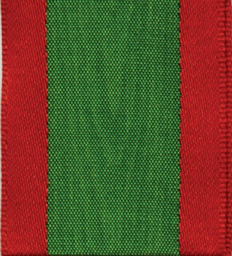 Entertaining with Caspari Wired Ribbon, Moiré, Red and Green