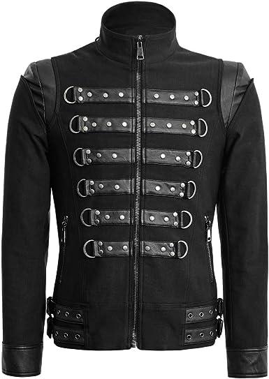 Anche Duplicare delicato  Punk Rave Belle Giacche Soldato Uomo Cappotto Militare Gotico Primavera  Cappotto Corto Trench Cappotto: Amazon.it: Abbigliamento