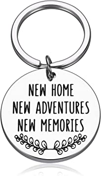 Amazon Com Homewarming New Home Gift Ideas For Him Her First Home House Keychain For Couples New Homeowners Buyers Clients Family Sister Brothers Friends Real Estate Closing Gifts Anniversary Key Tag Office Products