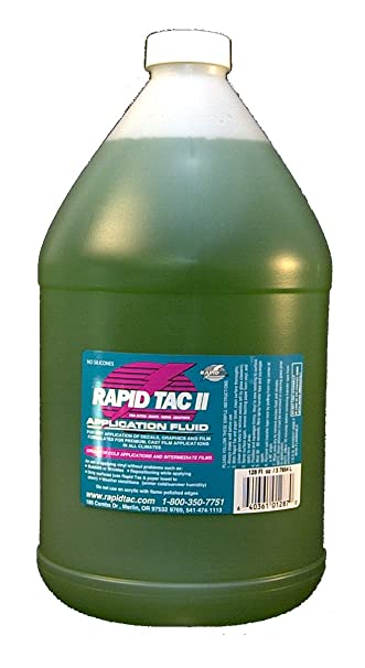 Amazoncom Rapid Tac II Application Fluid For Vinyl Wraps Decals - Custom vinyl decal application spray
