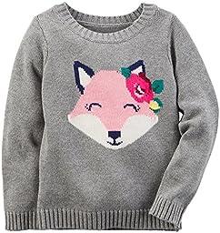Carter\'s Girls Sweater 253g515, Grey, 3T