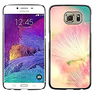 LECELL--Funda protectora / Cubierta / Piel For Samsung Galaxy S6 SM-G920 -- Pink White Teal Nature Spring --