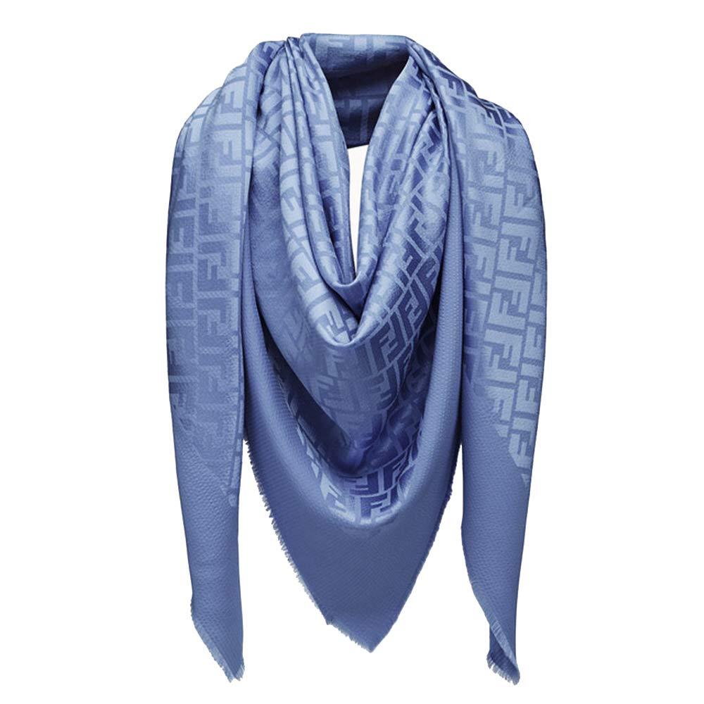 dc35fdf2a5 Fendi FF Women Shawl Silk and Wool Scarf at Amazon Women's Clothing ...