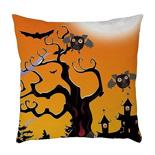 Vovotrade Funda de Almohada con Estampado Halloween Chica ...