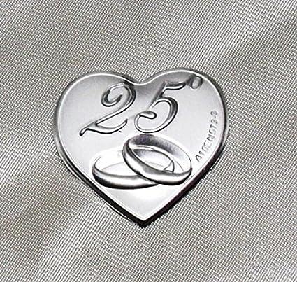Xxv Anniversario Di Matrimonio.Dlm24316 Calamite A Cuore Per 25 Anniversario Di Matrimonio 24 Pezzi Bomboniera