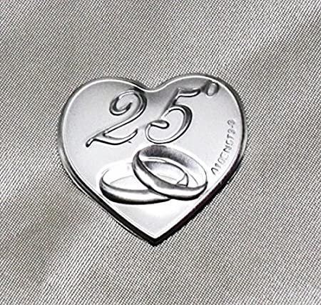 Xxv Anniversario Di Matrimonio.Dlm24316 Calamite A Cuore Per 25 Anniversario Di Matrimonio 24