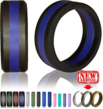 knot theory silicone wedding ring for men and women size 445 5mm - Wedding Rings For Men And Women