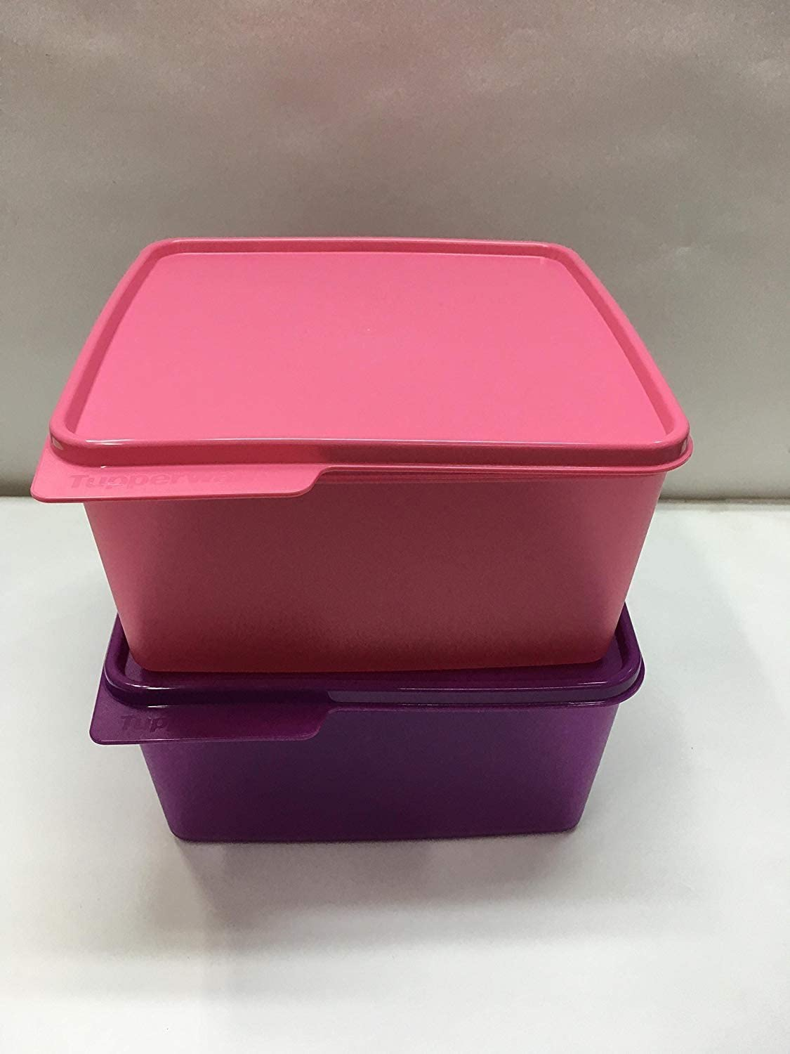 TUPP IND Tupperware Plastic Containers, 2.5 liters, (Set of 2)