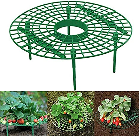 Nuolate2019 10pcs Plant Cradle Rack Strawberry Support Rack Frame Balcony Plastic Fruit Plant Growing Support