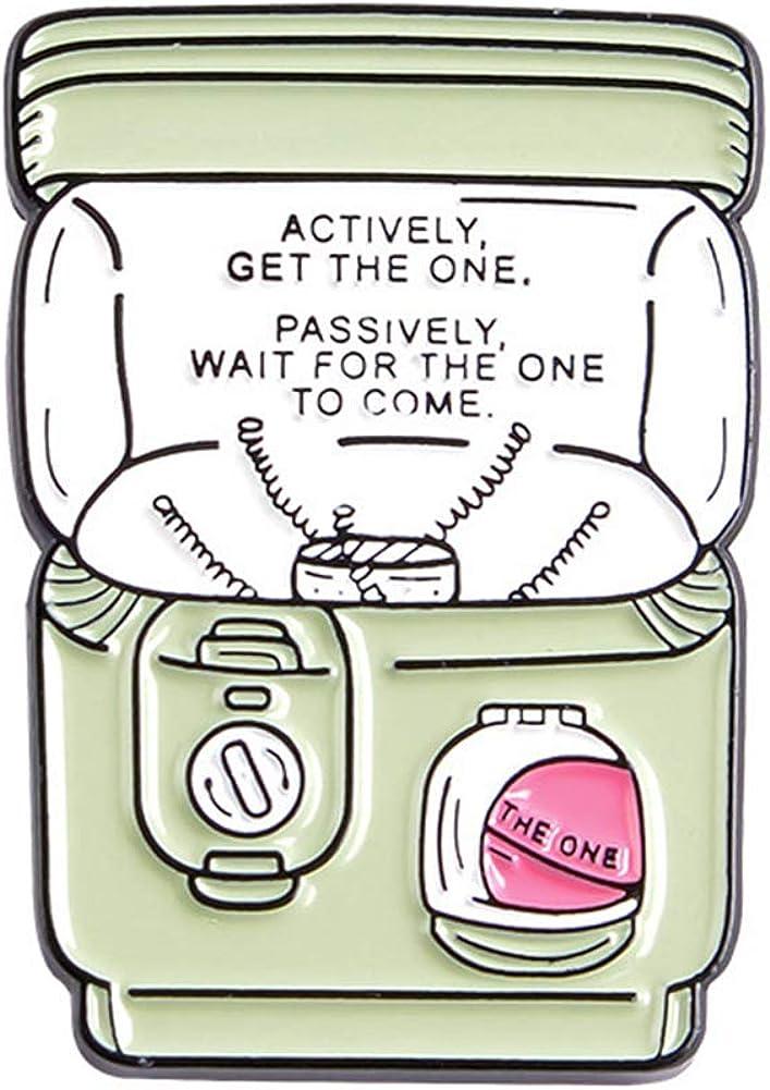 Ruby569y - Broche de esmalte para ropa de cuello de chaqueta, broche para máquina de juego expendedora, accesorio de regalo unisex