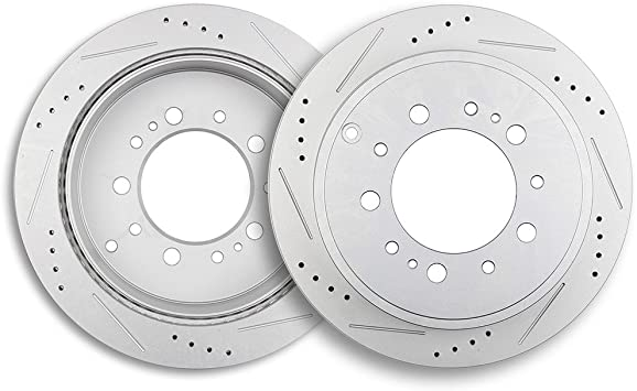 Front and Rear  Brake Disc Rotors For 2008 2009 2010 2011 2012 2013 Lexus LX570
