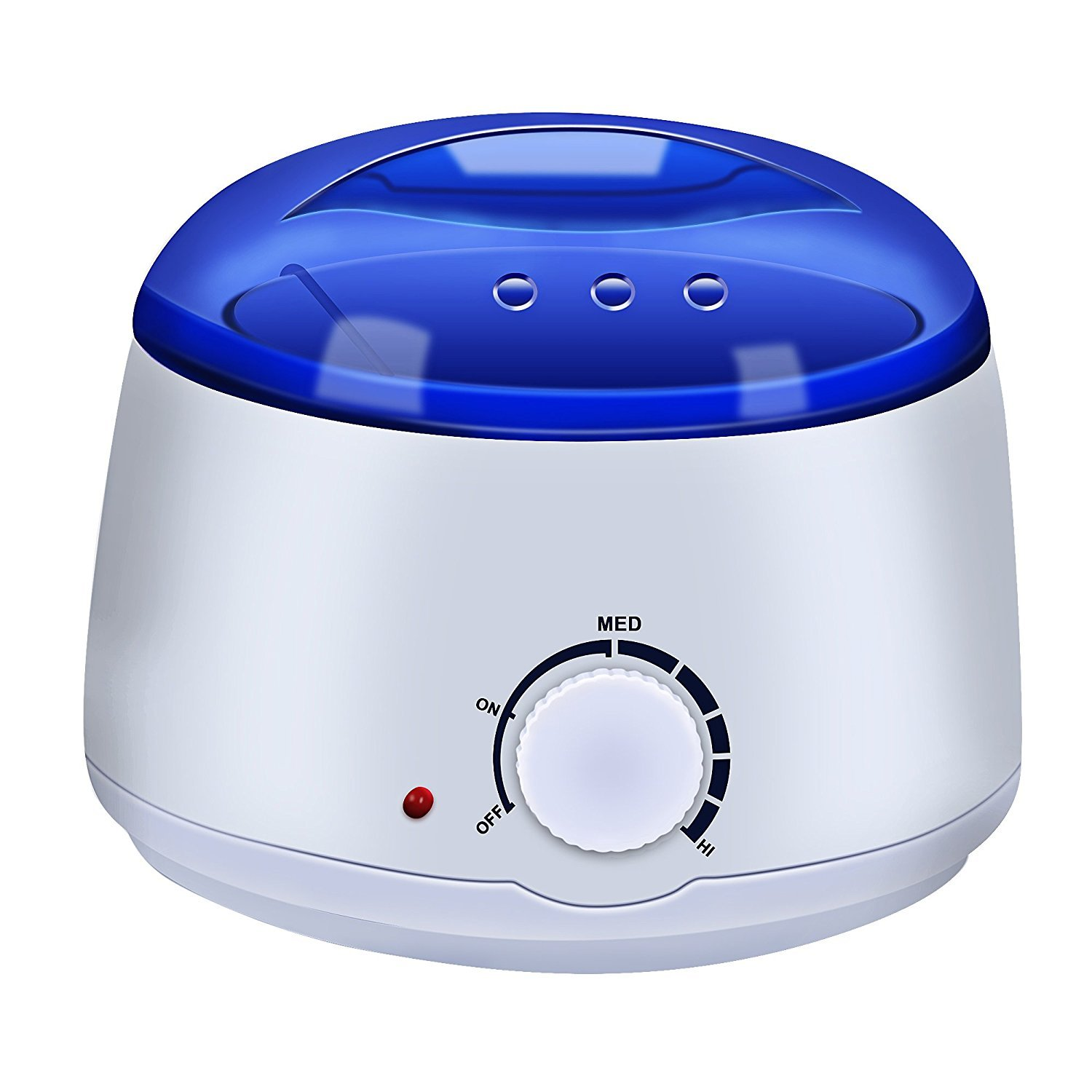 Portable Wax Warmer Electric Wax Heater for All Wax Types, Wax Melter For Depilatory Hair Removal Warmer with Adjustable Temperature and Built-in Thermo Safety Control, Removable 500ml (White) MM-C02pots