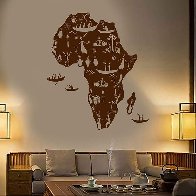 Cyalla África Continente Africanos Nativos Personas Mapa Vinilo ...