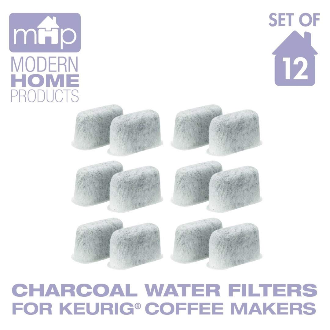 Charcoal Water Coffee Filter Cartridges, Replaces Keurig 05073 Charcoal Water Coffee Filters- Set of 12