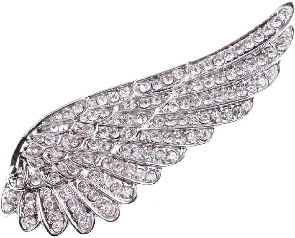 MDGWM Joyería de Pin de Bufanda, Accesorios de Abrigo de alas de ángel Completo Regalo de Pareja para Kit de Ramos de Boda DIY
