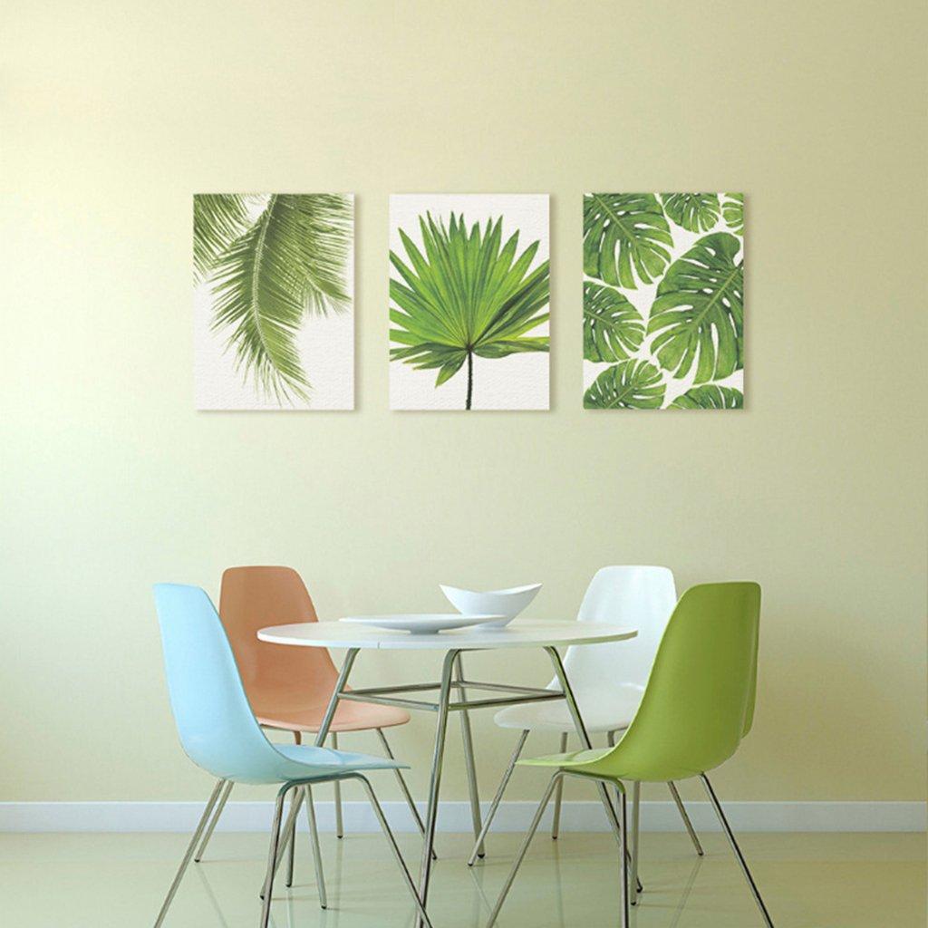 Amazon.de: Homyl 3pcs Rahmenlose Leinwand Bilder Ölgemälde Wandkunst ...