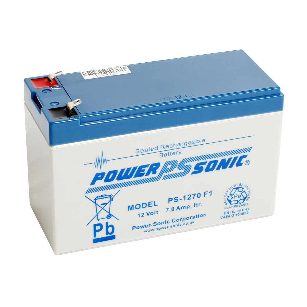 Power Sonic PS1270 12V 7Ah AGM Battery - Suitable For Mobility Scooters Wheelchairs Toy Car & Electric Bike Power-Sonic