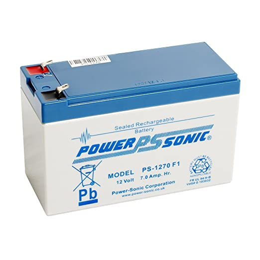 PS-1270 12 Volt 7 Amp Hour Sealed Lead Acid Replacement Battery