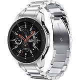 V-MORO 22mm と互換性のあるメタルバンド Gear S3 Frontier/Classic Band/Galaxy Watch 46mm バンドソリッドステンレススチールメタルミラノループビジネスストラップ