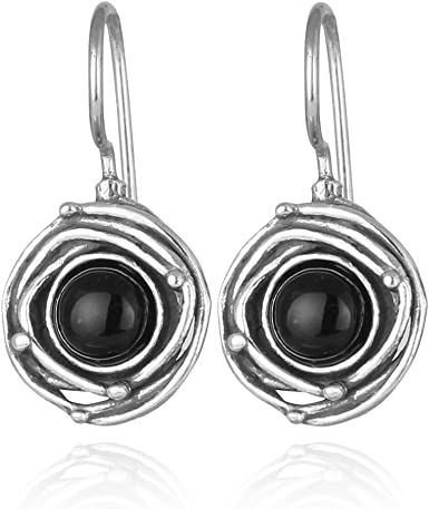 Stud Earring Silver Earring Earring Sterling Silver Earring Handamade Earring VINTAGE Earring Birthstone Black Onyx Silver Earring
