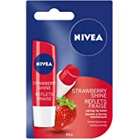 NIVEA Strawberry Shine Tinted Caring Lip Balm Stick, 4.8 g