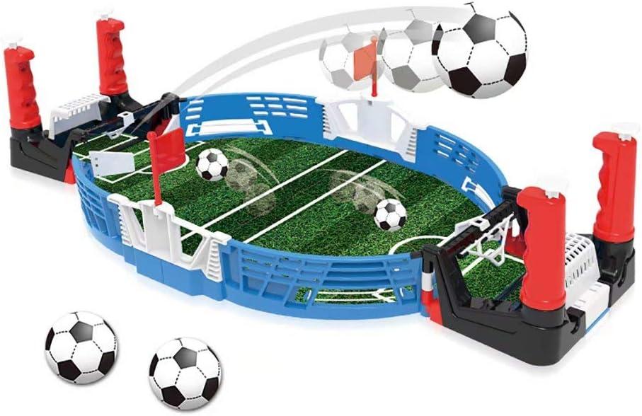 Juego de futbolín de Mesa: Juego de Juego de fútbol/fútbol de Mini Mesa portátil con Dos Bolas Tablero de Mesa Deportivo portátil para Adultos y niños: Amazon.es: Deportes y aire libre