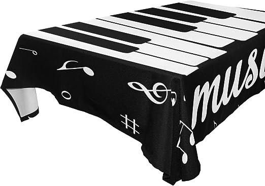 Use7 - Mantel Rectangular para Mesa de Piano, diseño de Notas ...