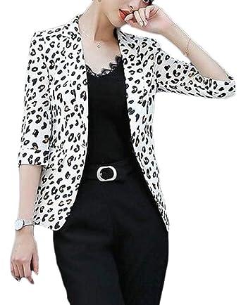 Amazon.com: GRMO - Chaqueta para mujer, diseño de leopardo ...