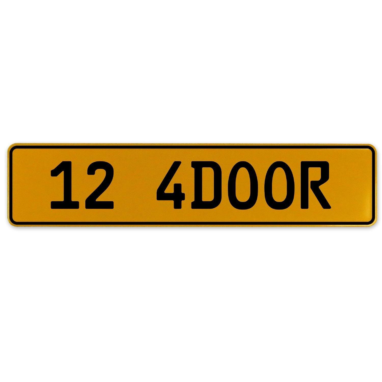 Vintage Parts 563124 12 4DOOR Yellow Stamped Aluminum European Plate