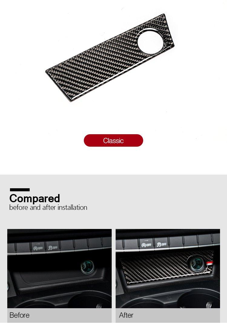 Carbon Fiber interior Decoration Decal Frame cover Trim Sline quattro per Audi A4 S4 A5 S5 B8 8T 2017 + Lhd LVBAO