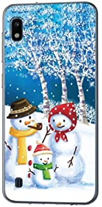 Yoedge Christmas Case for Samsung Galaxy A10e, Clear Slim TPU Christmas Design Gifts for Girls Women Cute Christmas Decor Transparent Protective Back Cover for Galaxy A10e, Snowman