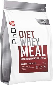 PhD Diet Whey Meal Replacement Powder, Batido Nutricional en Polvo Sustitutivo de Comidas para Dieta, Rico en Proteínas Bajo en Azúcar, con Fibra para ...