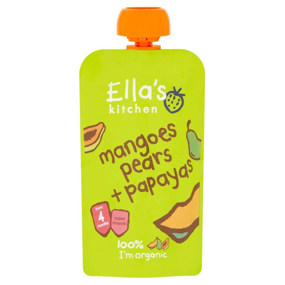 (12 PACK) - Ellas Kitchen - S1 Mangoes Pears & Papayas | 120g | 12 PACK BUNDLE